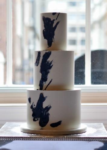 Abstract Splash Wedding Cake