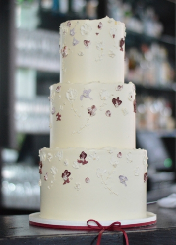 Hand Painted Buttercream Wedding Cake