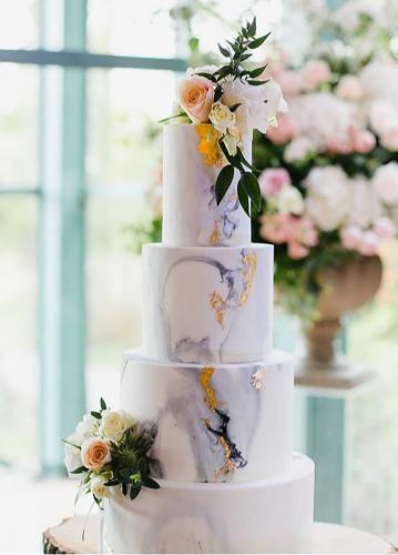 Marbled Fondant Wedding Cake