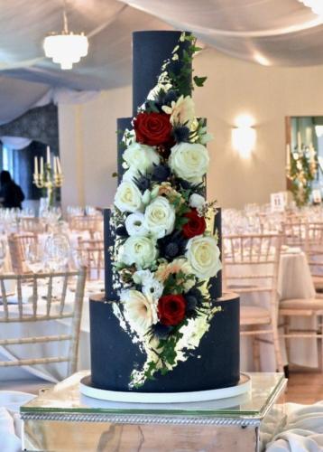 Navy Fondant Wedding Cake