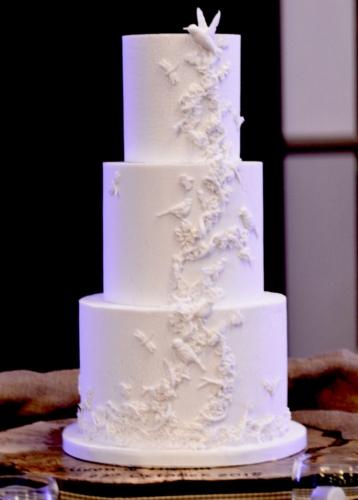 Secret Garden Fondant Wedding Cake