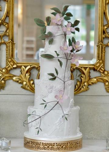 Stone Effect Fondant Wedding Cake